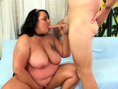Grown-up Fattie Is Fucked with Her Mouth, Cunt and Ass