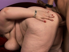 Dude fingers and fucks flavourful pussy of one obese explicit